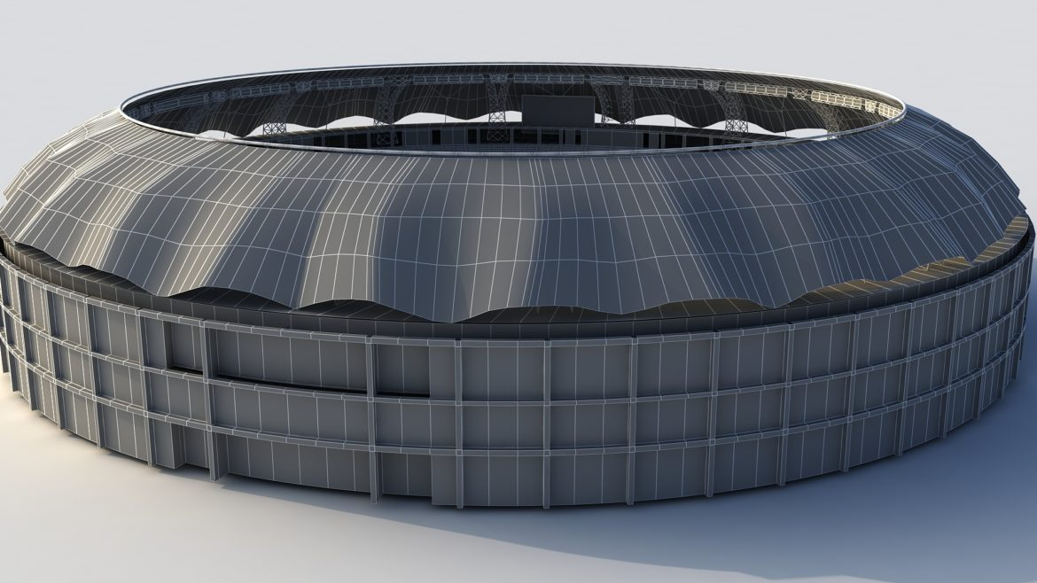 dubai cricket stadium 3d model 3ds max fbx obj 321220