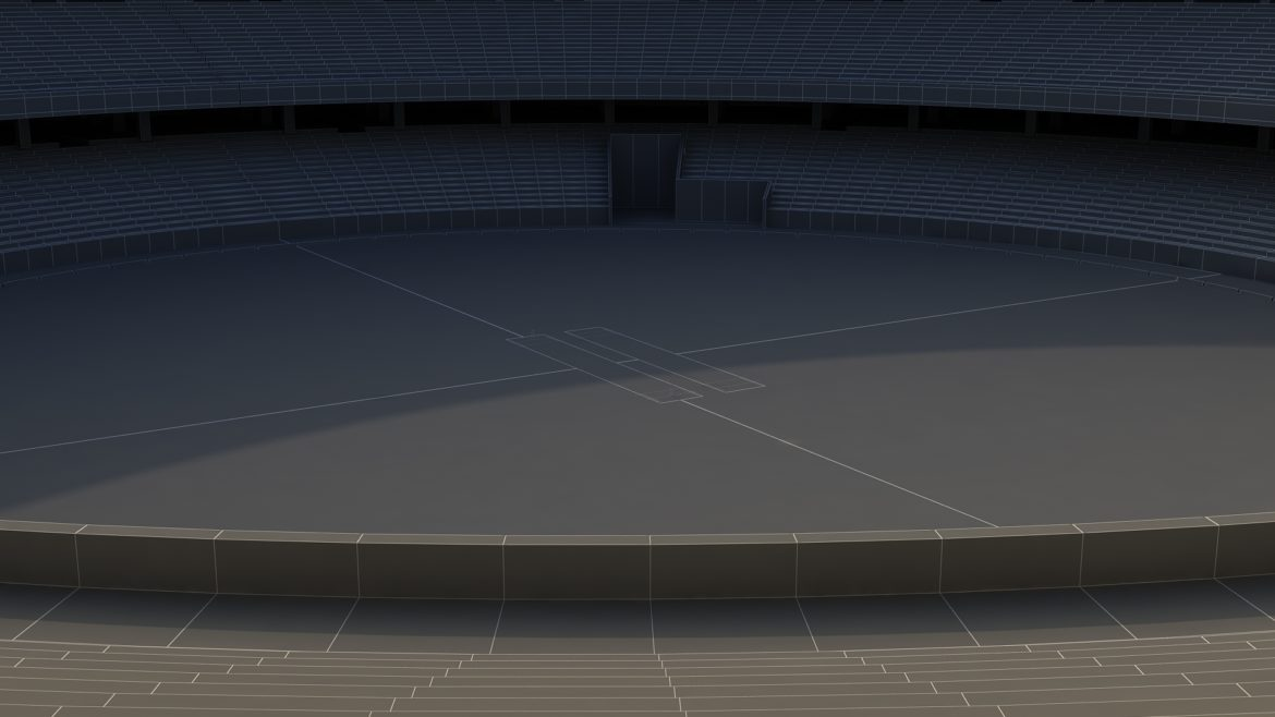 dubai cricket stadium 3d model 3ds max fbx obj 321222