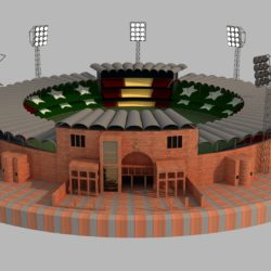 qaddafi cricket stadium 3d model 3ds max fbx obj 321230