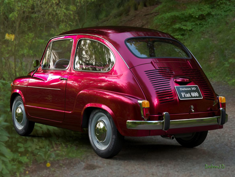 fiat 600 1973 3d модел max fbx c4d lxo ma mb obj 321321
