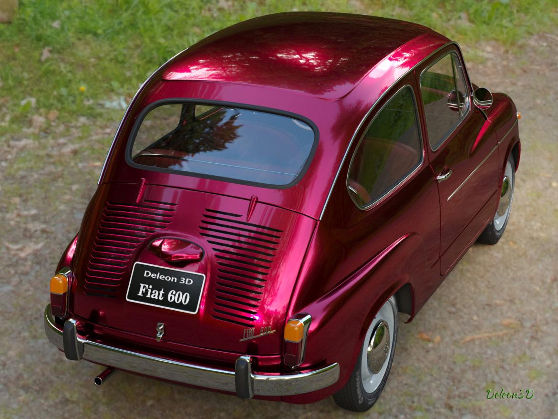 fiat 600 1973 3d модел max fbx c4d lxo ma mb obj 321324