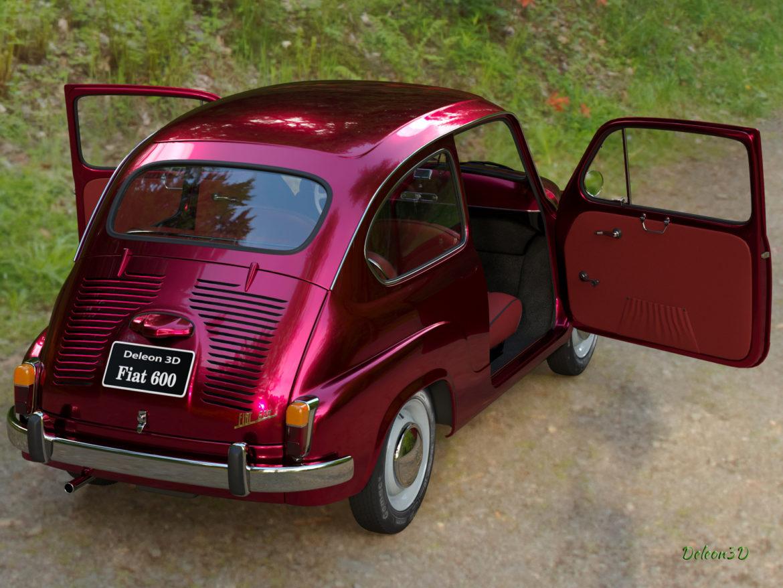 fiat 600 1973 3d модел max fbx c4d lxo ma mb obj 321327