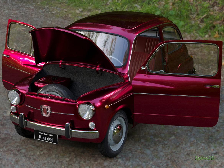 fiat 600 1973 3d модел max fbx c4d lxo ma mb obj 321328