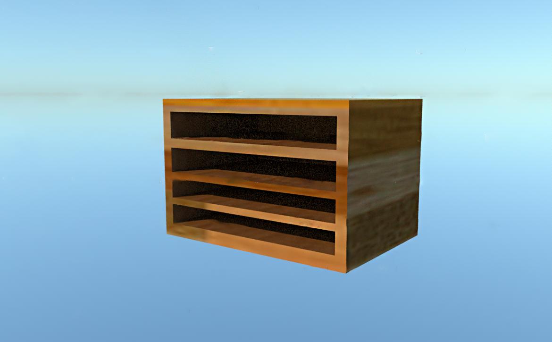 small storage shelf interior : sketchup 3d model skp 321340