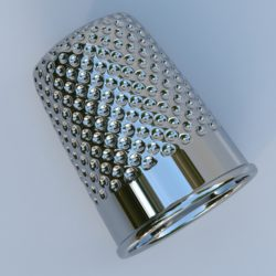metal thimble 3d model max fbx obj 321384
