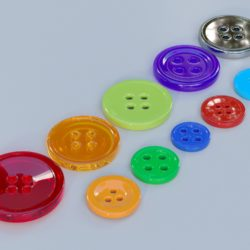 giyim düğmeleri 3d model max fbx obj 321399