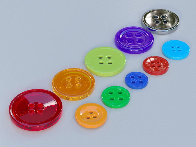 drabužių mygtukai 3D modelis max fbx obj 321399