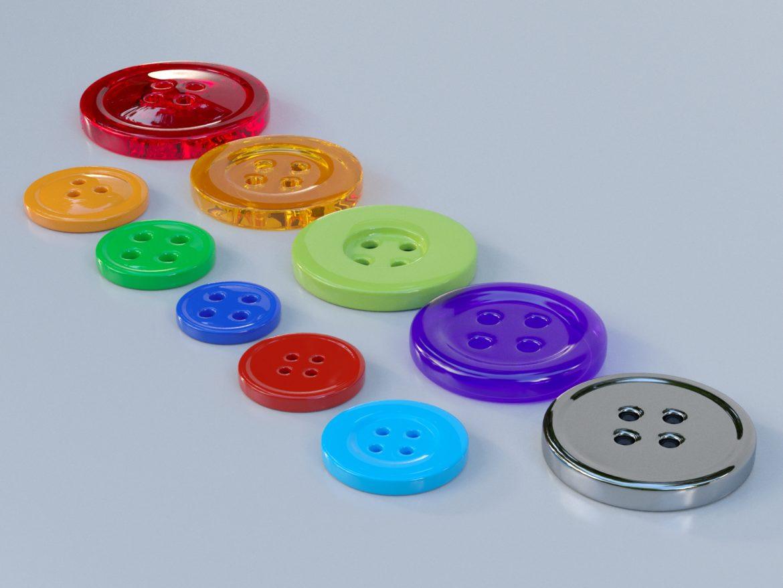 drabužių mygtukai 3D modelis max fbx obj 321400