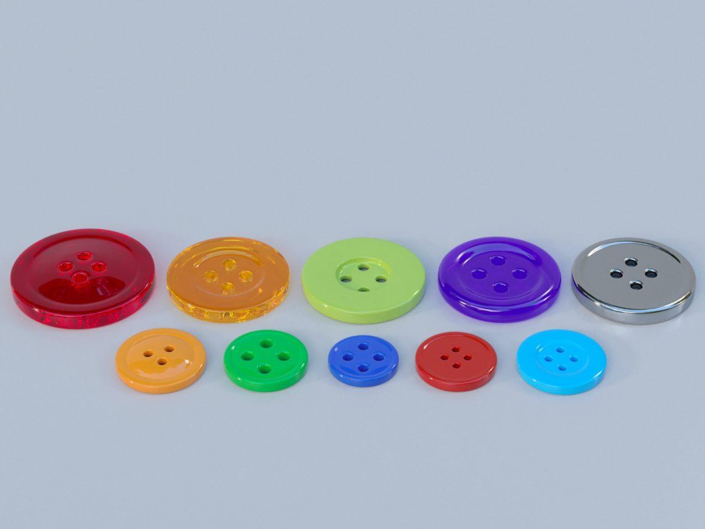 drabužių mygtukai 3D modelis max fbx obj 321401
