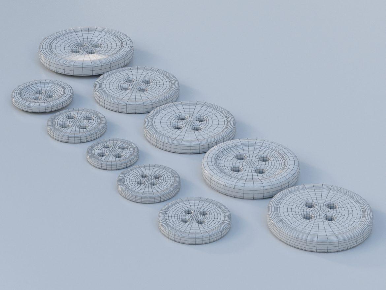 drabužių mygtukai 3D modelis max fbx obj 321404