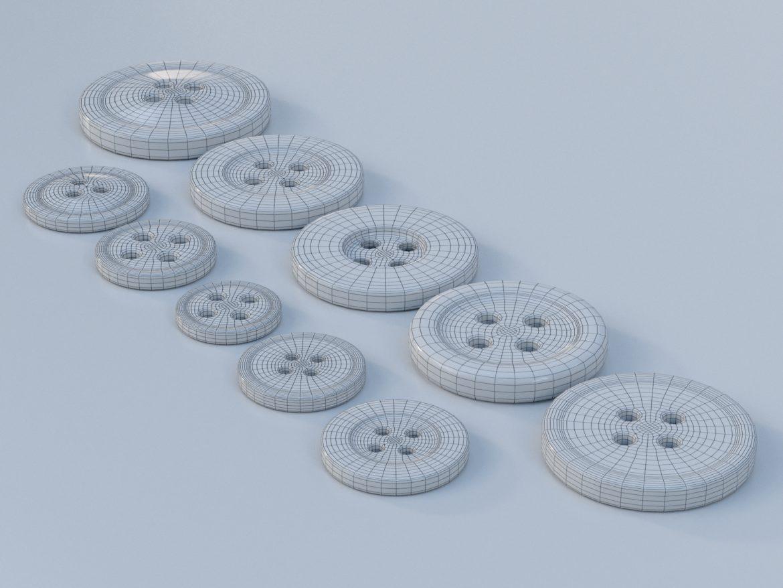 drabužių mygtukai 3D modelis max fbx obj 321405