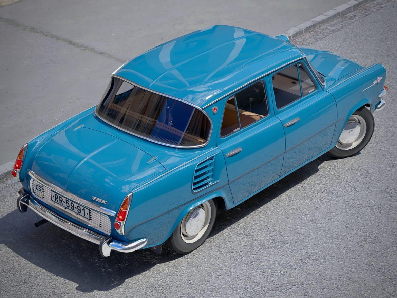 skoda 1000 mb 1964 3d модель 3ds max fbx c4d dae obj 321421