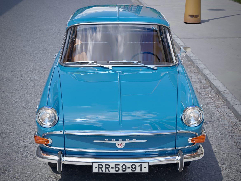 skoda 1000 mb 1964 3d модель 3ds max fbx c4d dae obj 321422