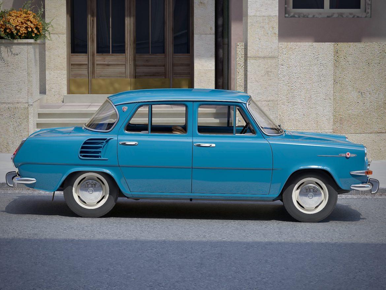 skoda 1000 mb 1964 3d модель 3ds max fbx c4d dae obj 321423