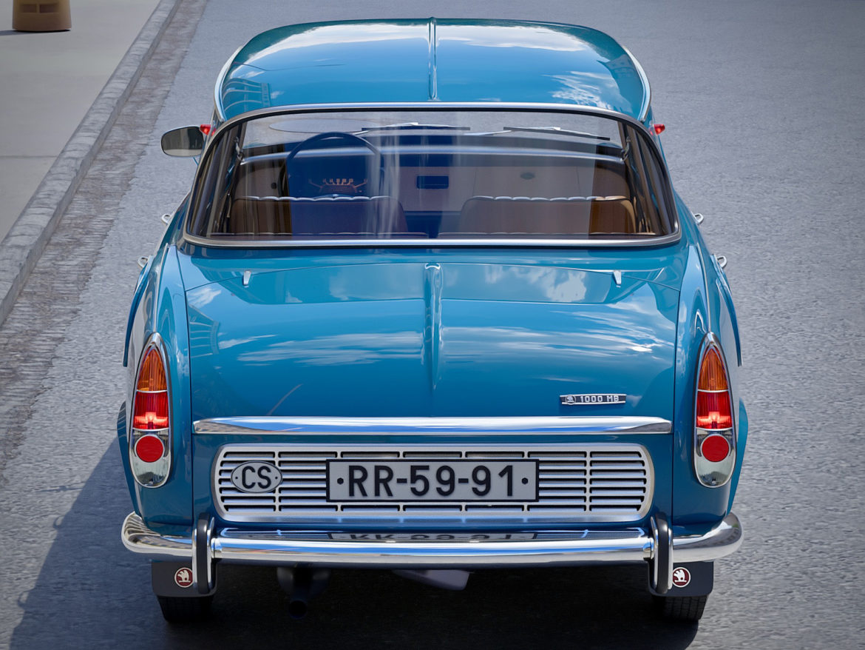 skoda 1000 mb 1964 3d модель 3ds max fbx c4d dae obj 321424