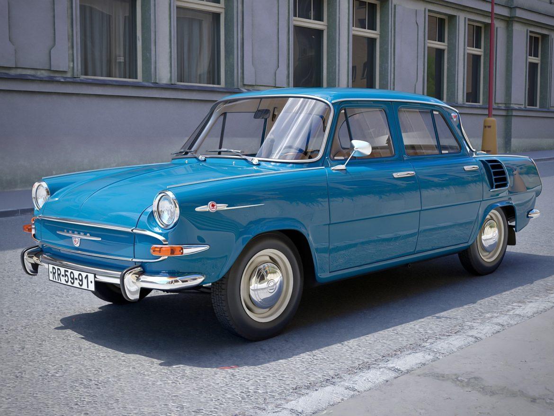 skoda 1000 mb 1964 3d модель 3ds max fbx c4d dae obj 321425