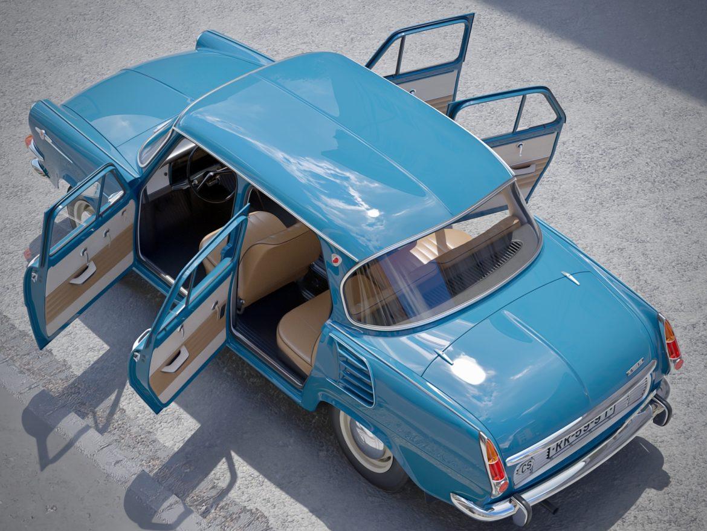 skoda 1000 mb 1964 3d модель 3ds max fbx c4d dae obj 321426