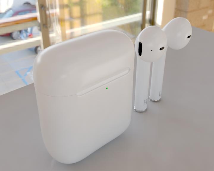 apple airpods 3d model 3ds max fbx 321470