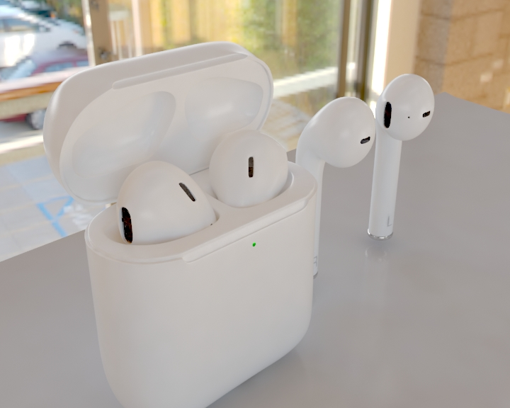 apple airpods 3d model 3ds max fbx 321476