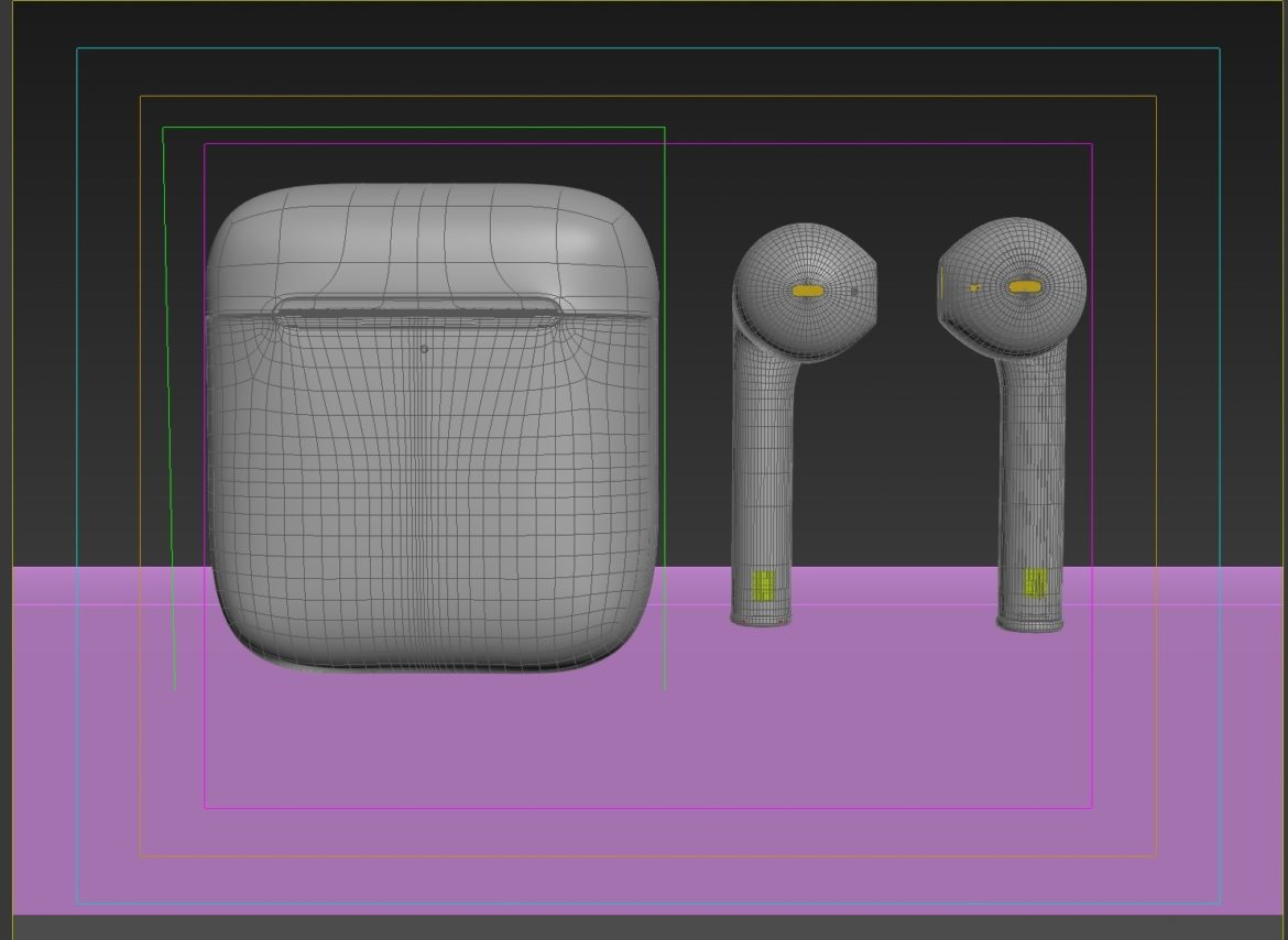 """Apple airpods"" 3D modelis 3ds max fbx 321479"