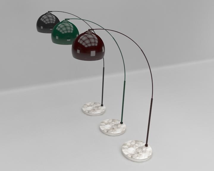 kemerli yer lambası 3d model 3ds max fbx obj 321506