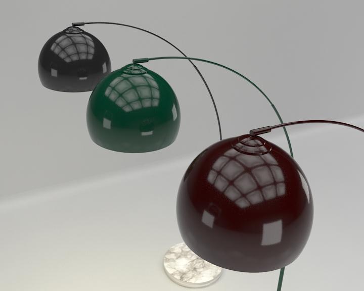 kemerli yer lambası 3d model 3ds max fbx obj 321507