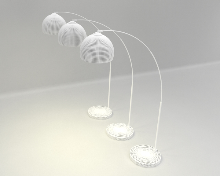 arched floor lamp 3d model 3ds max fbx obj 321510