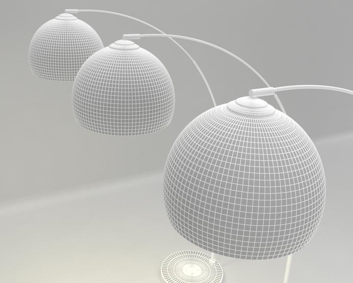 kemerli yer lambası 3d model 3ds max fbx obj 321511