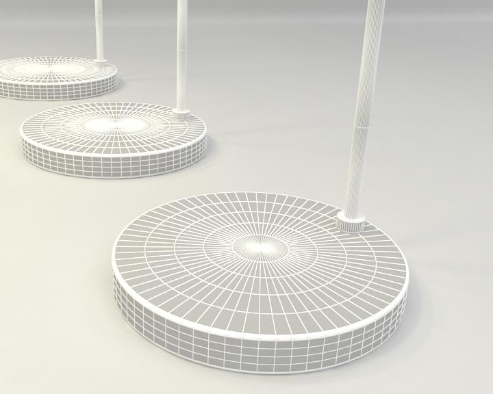 kemerli yer lambası 3d model 3ds max fbx obj 321512