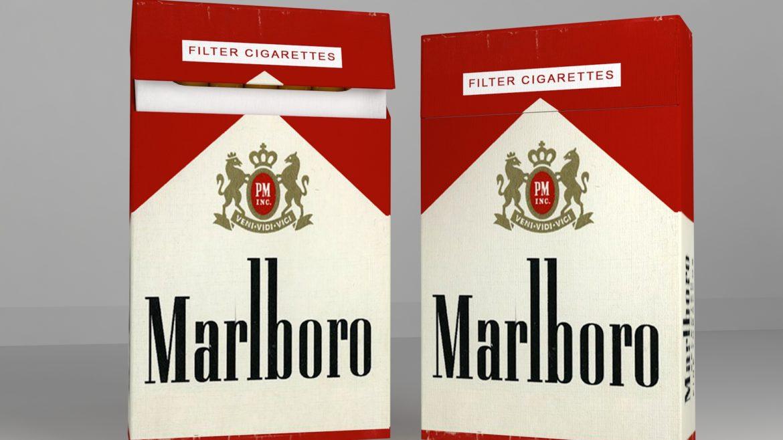пакет сигарет 3D модель 3ds max fbx obj 321539