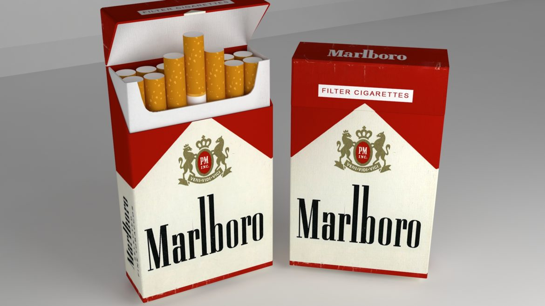пакет сигарет 3D модель 3ds max fbx obj 321543