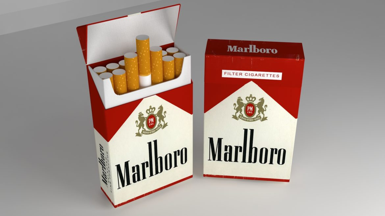 пакет сигарет 3D модель 3ds max fbx obj 321545