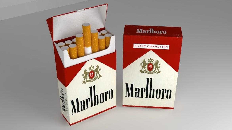 пакет сигарет 3D модель 3ds max fbx obj 321546