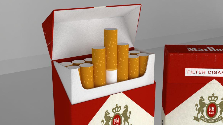 пакет сигарет 3D модель 3ds max fbx obj 321547