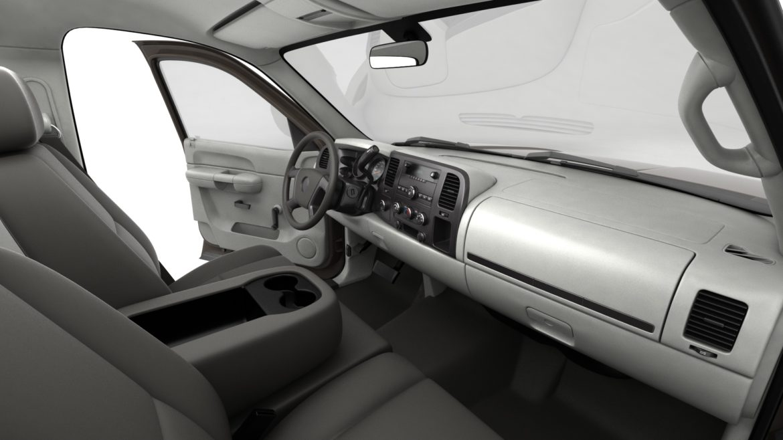 генеричен пикап с кабина за екипаж 19 3d модел 3ds max fbx blend obj 321637