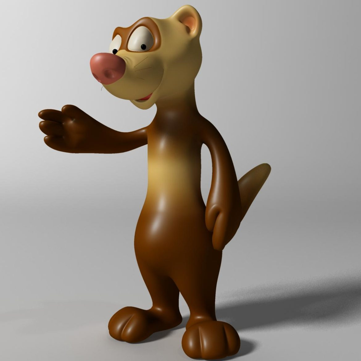 cartoon ferret rigged 3d model 3ds max fbx  obj other 321723