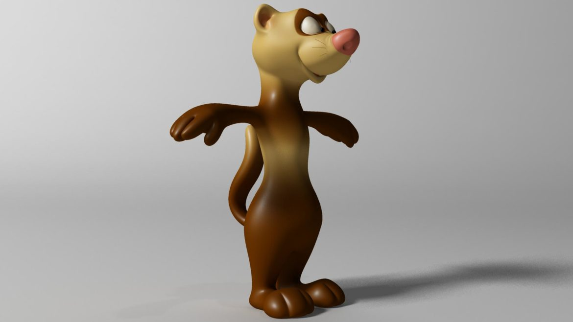 cartoon ferret rigged 3d model 3ds max fbx  obj other 321725