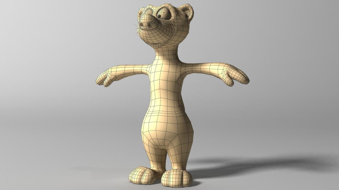 cartoon ferret rigged 3d model 3ds max fbx  obj other 321727