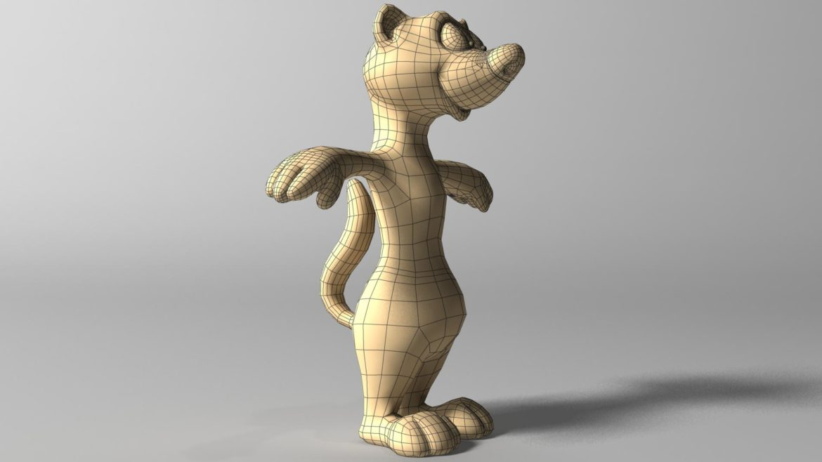 cartoon ferret rigged 3d model 3ds max fbx  obj other 321728