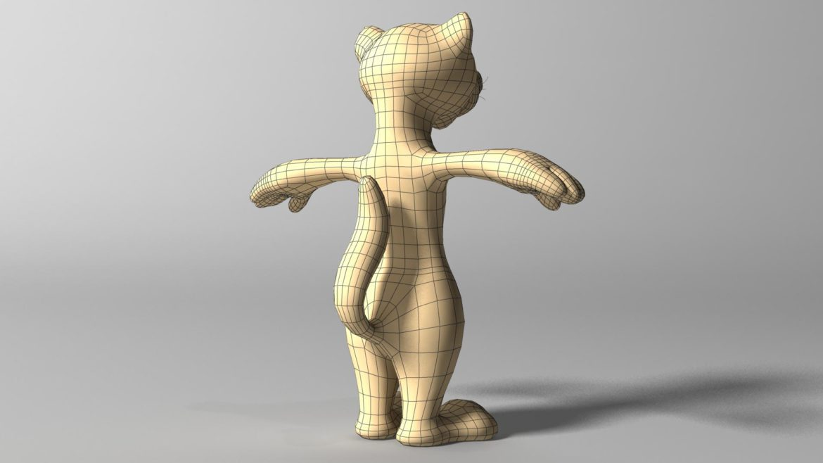 cartoon ferret rigged 3d model 3ds max fbx  obj other 321729