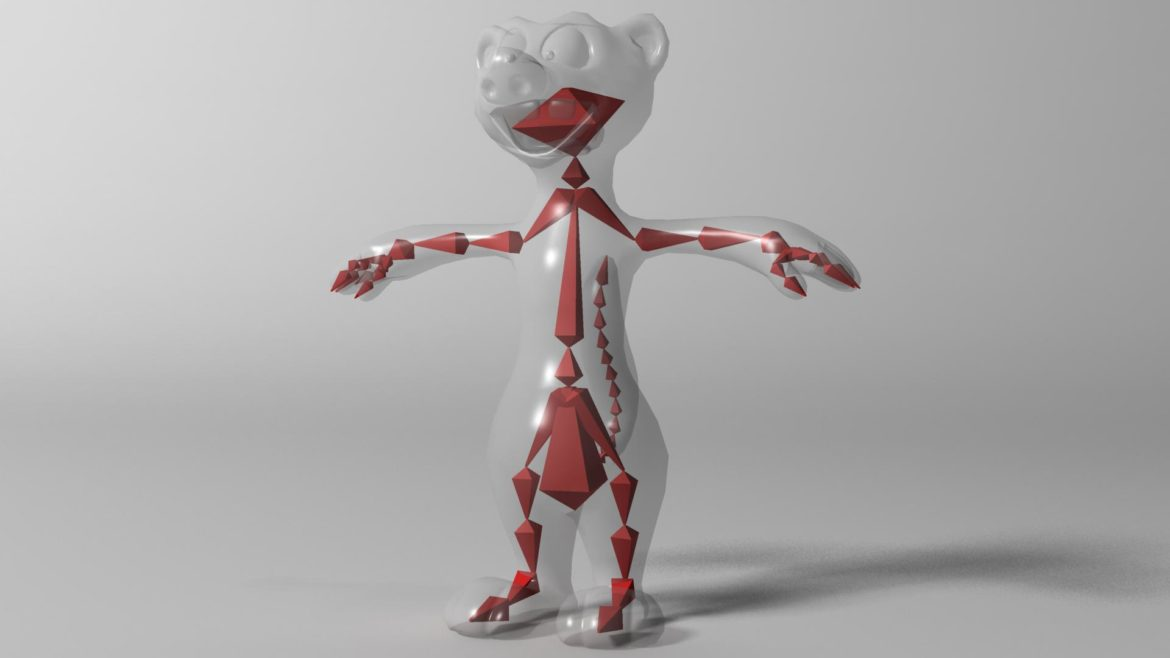 cartoon ferret rigged 3d model 3ds max fbx  obj other 321730