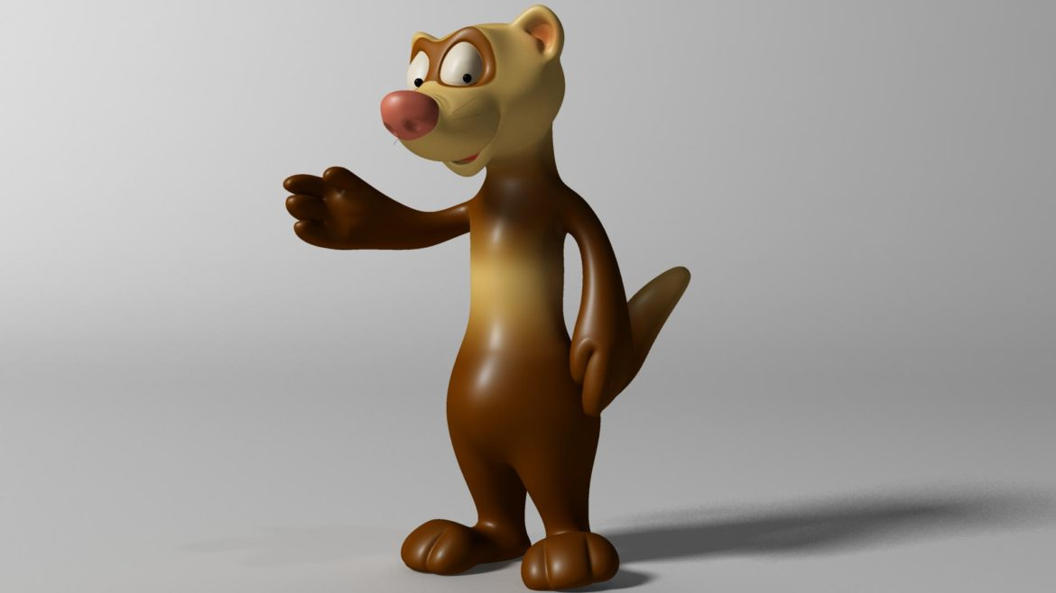 cartoon ferret rigged 3d model 3ds max fbx  obj other 321733