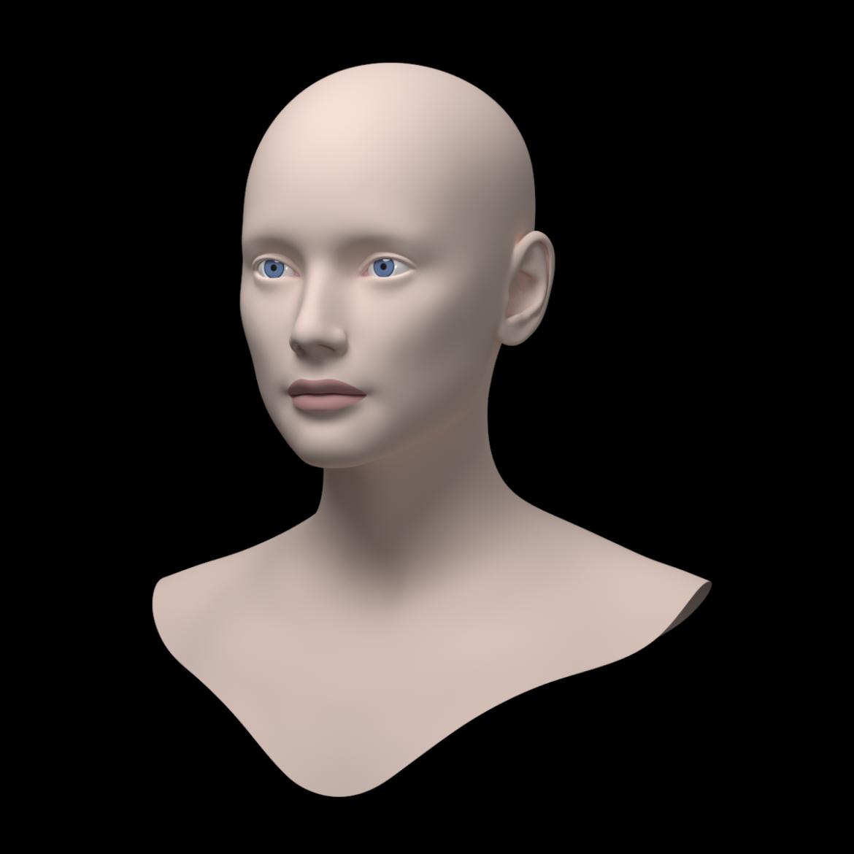 female ideal head base mesh 3d model 3ds max fbx c4d dae ma mb obj 321750