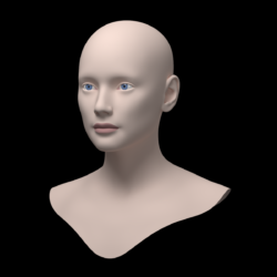 kvinnelig ideal head base mesh 3d model 3ds max fbx c4d dae ma mb obj 321750