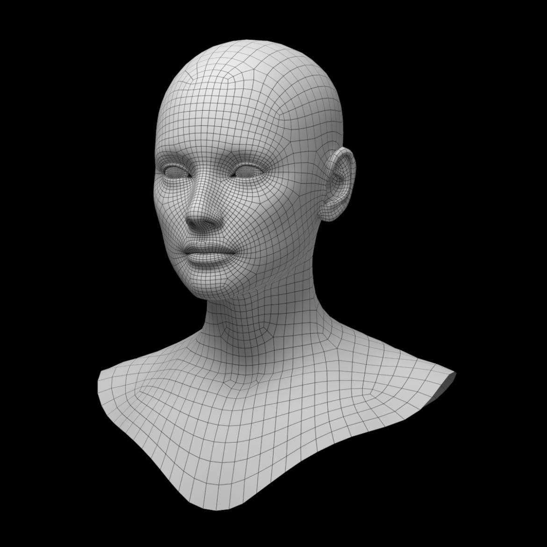 female ideal head base mesh 3d model 3ds max fbx c4d dae ma mb obj 321751