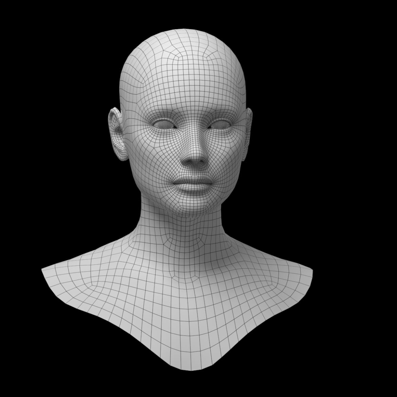 female ideal head base mesh 3d model 3ds max fbx c4d dae ma mb obj 321753