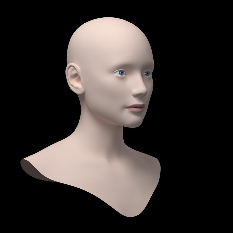 жіноча ідеальна головна сітка 3d модель 3ds max fbx c4d dae ma mb obj 321754