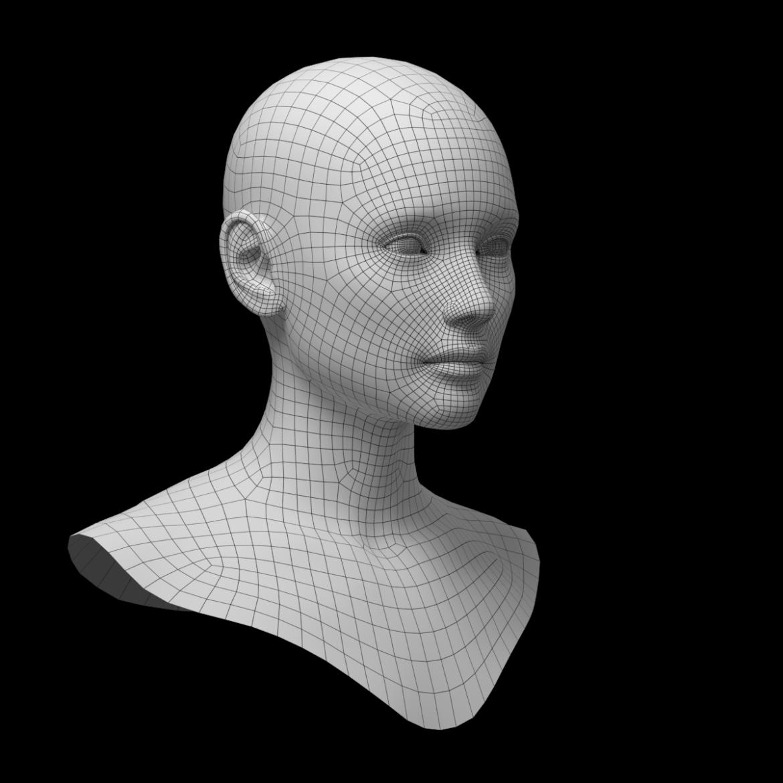 female ideal head base mesh 3d model 3ds max fbx c4d dae ma mb obj 321755
