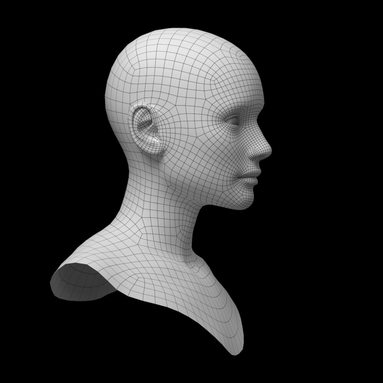 female ideal head base mesh 3d model 3ds max fbx c4d dae ma mb obj 321757