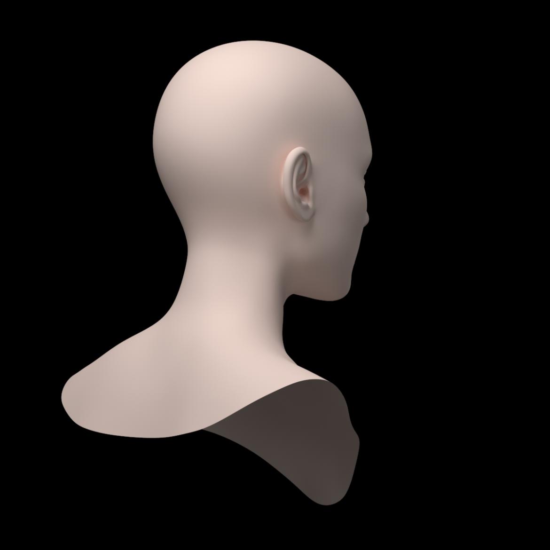 female ideal head base mesh 3d model 3ds max fbx c4d dae ma mb obj 321758